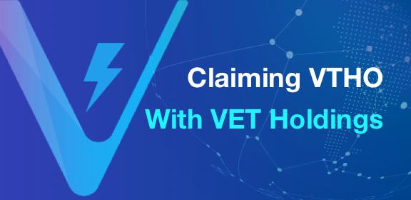 Claiming VTHO With VET Holdings